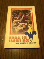 Vintage Boy Scouts of America, WEBELOS DEN LEADERS BOOK, 1973 Printing