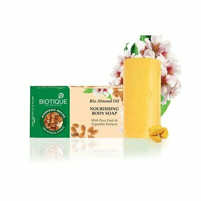 pack Of 3 Impartial Biotique Bio Almond Oil Nourishing Body Soap 150g Warm And Windproof