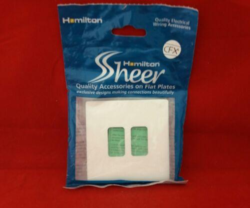 HAMILTON 80C2GP 2G 2GANG METAL WHITE METAL FLAT PLATE GRID PLATE