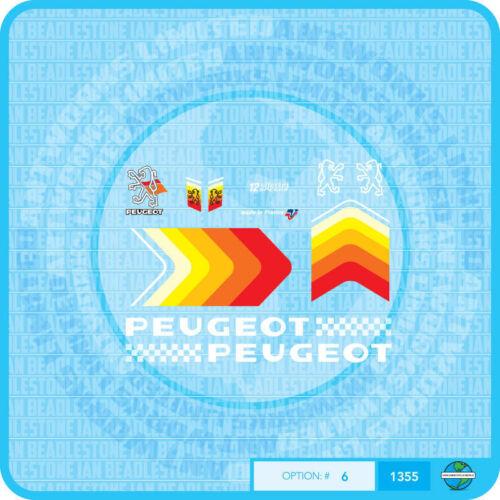PEUGEOT bicyclette Autocollants-Transferts-Stickers-Set 6