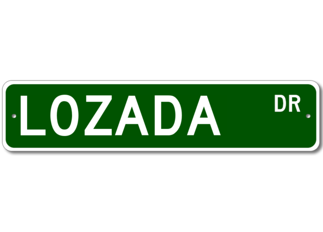 Personalized Last Name Sign LOZADA Street Sign