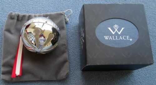 2013 Wallace 43rd Annual Silver-Plated Sleigh Bell Ornament Peace on Earth NIB