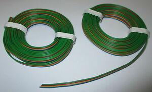 0-695-M-Fils-Quadruples-Bleu-Jaune-Rouge-Vert-2x5meter-Cable-Ruban