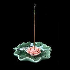New Handmade Ceramic Lotus Incense Buddhist Burner Holder For Sticks & Coil XL12