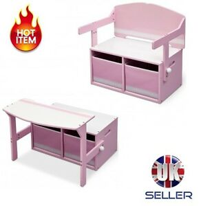 Image Is Loading 3 In 1 Toy Storage Box Unit Convertible