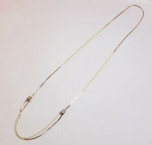 VTG-Gold-Tone-Adjustable-Necklace-Chain-80-039-s-20-28-034-Retro-Disco-Single-Double