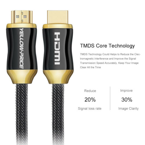 In-Wall Installation HDMI Cable 2.0v- 15//25//30//50 Feet CL3 Rated YELLOWPRICE