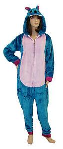 sito affidabile 6ebb6 8d972 Dettagli su SEXY Pigiama DRAGO peluche Tuta Tutina intera Donna Unisex  costume BLU
