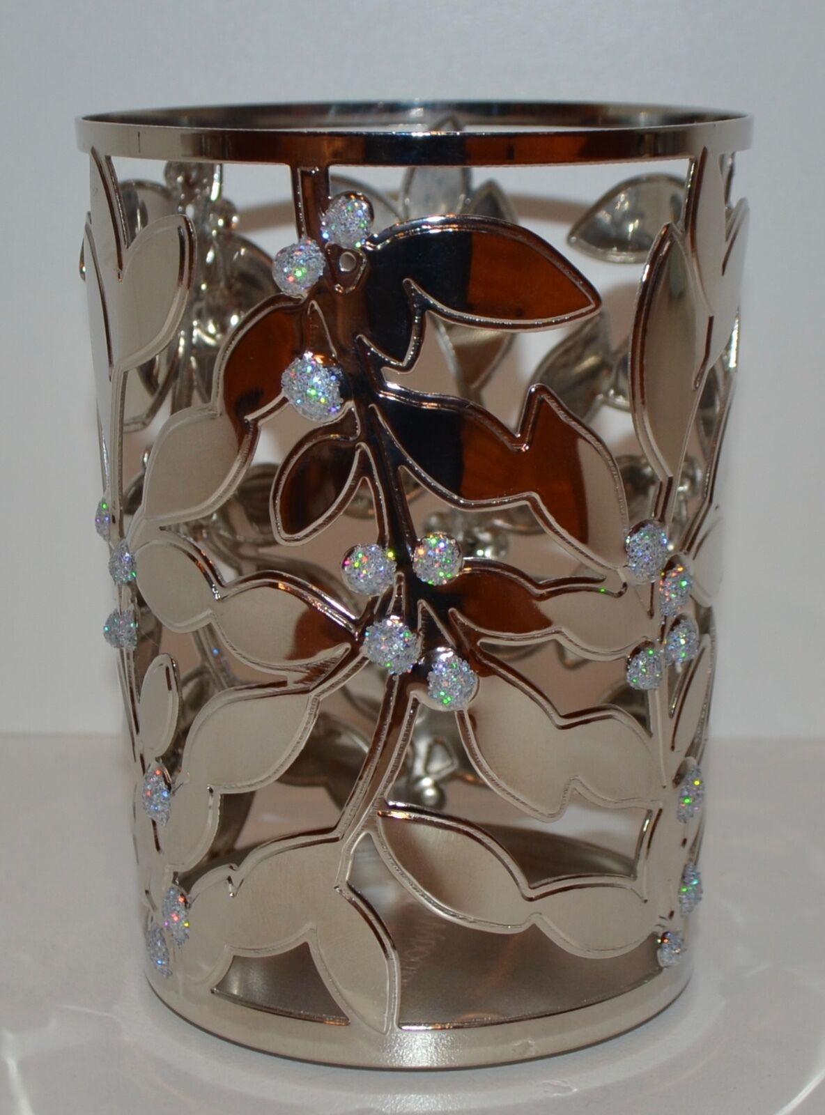 BATH /& BODY WORKS HOLLY BERRY LEAVES SMALL MEDIUM MINI CANDLE HOLDER SOAP SLEEVE