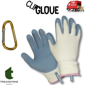 Clip Gloves Ladies Bamboo Fibre Comfort & Grip Gardening Weeding Sowing Small