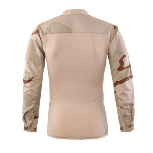 Mens Army Military Combat T-shirt Tactical City Casual Pullover Shirt Camouflage