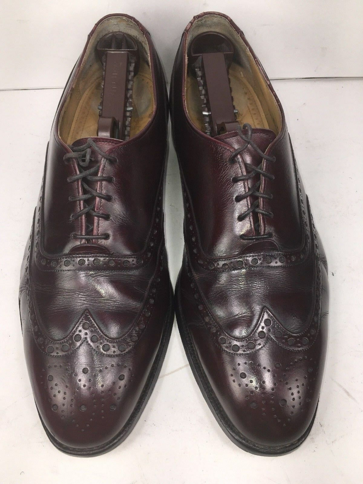 Johnston Murphy   Herren Oxfords  Aristocraft Burgundy D Leder Wingtip Sz 10 D Burgundy USA 8090ed