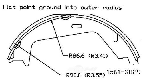 Parking Brake Shoe Rear OMNIPARTS 13077021