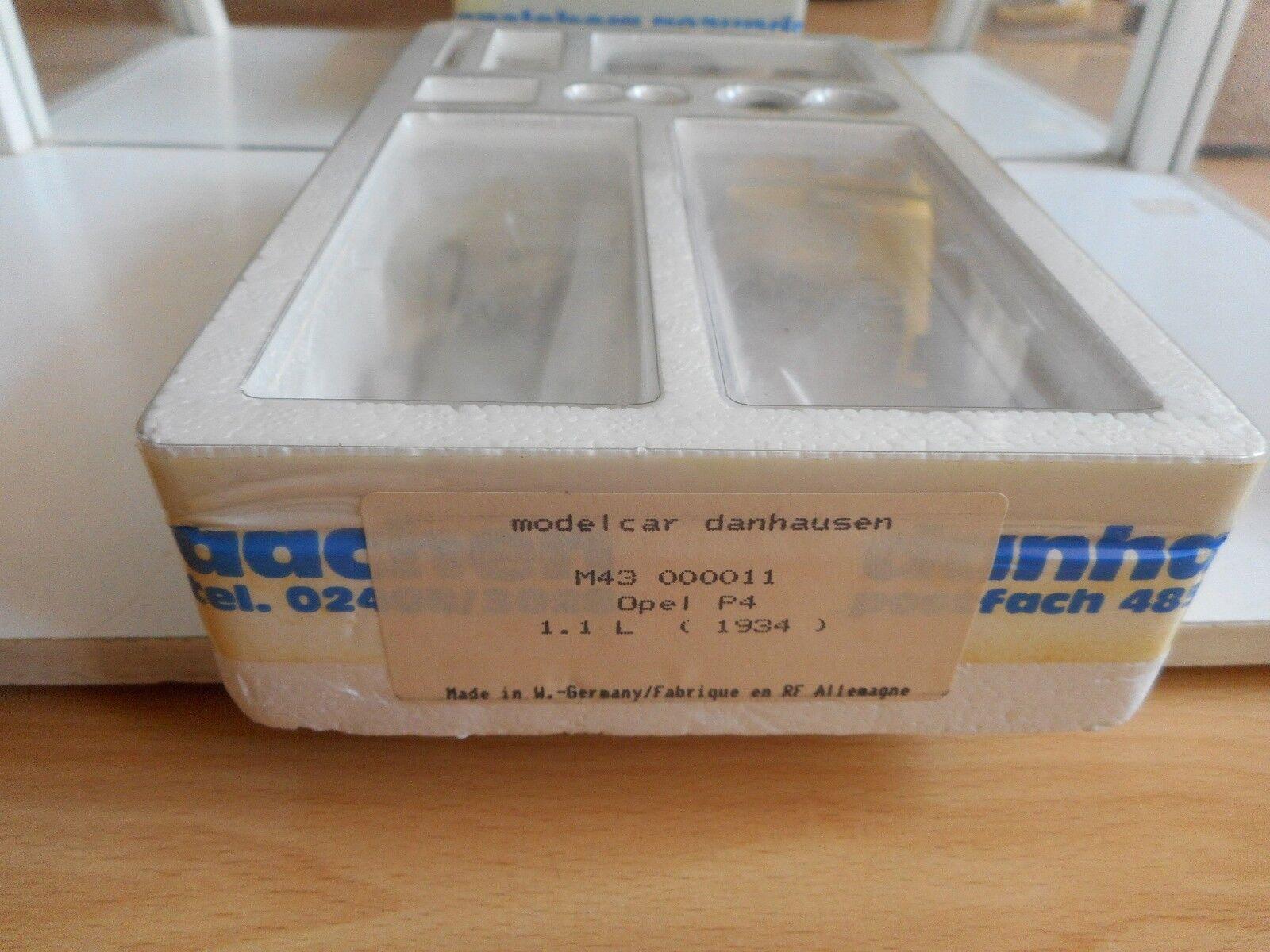 Model metal metal metal Kit Danhausen Opel P4 1.1 L 1934 on 1 43 in Box (Sealed) 38ea86