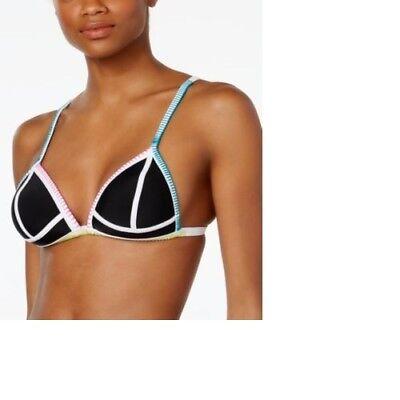 NEW Hula Honey Womens Purple Printed Bikini Swim Top Separates Juniors SizeLarge