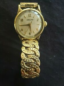 VINTAGE-HAMILTON-CLD-10K-GOLD-FILLED-WATCH-U-S-PAT-2467062
