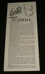 TASMANIA-LET-039-S-TALK-ABOUT-EVANDALE-1972-FIRST-EDITION-1970s-BROCHURE-FOLD-OUT