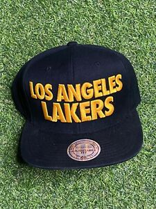 VTG-Mitchell-amp-Ness-LOS-ANGELES-LAKERS-HAT-Cap-Snapback-NBA-Big-Spell-Out