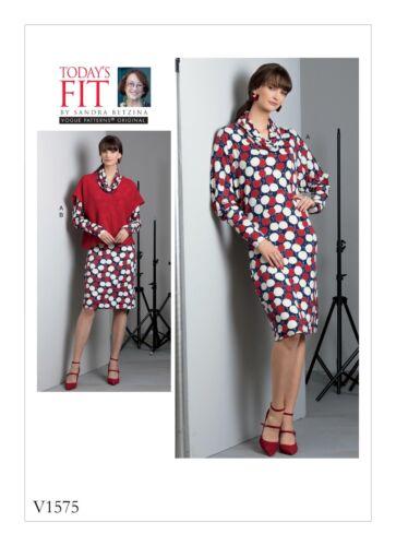 Vogue Easy SEWING PATTERN V1575 Misses Dress /& Top Sizes A-J