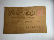 ANTIQUE Leather Postcard 1906 Canada Dated W Postage