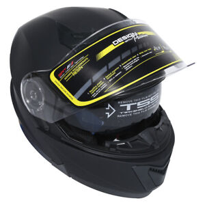 DOT-Flip-up-Modular-Full-Face-Motorcycle-Helmet-Dual-Visor-Motocross-M-L-XL-US