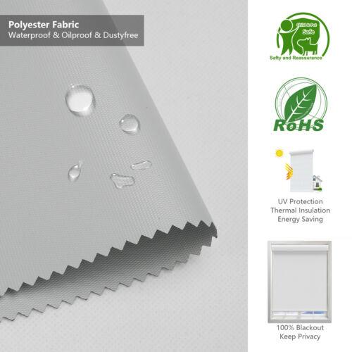 Light Grey Waterproof Blackout Remote Control Motorized Window Roller Shade