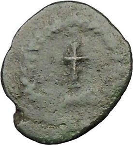 THEODOSIUS-II-425AD-Ancient-Roman-Coin-CROSS-within-wreath-i31568