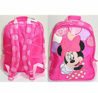Princess Minnie Mouse Backpack Book Bag Tote Pink Polka Dots Disney Store