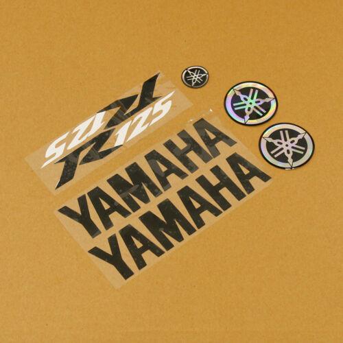 Ersatz Schwarz//Schwarz//Weiss Aufkleber Kit für Yamaha YZF-R 125 08-17 2008-2017