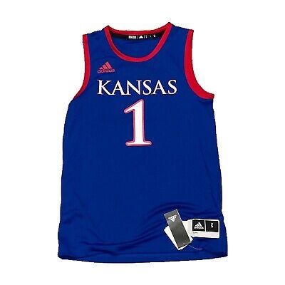 NWT NEW Kansas Jayhawks Adidas #1 Men's Basketball Jersey Small 193092277518 | eBay