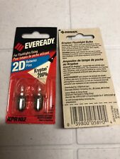 NEW 2 Pack Energizer KPR102 2D Krypton Flashlight Bulbs