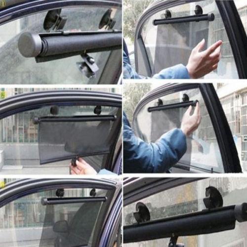 2pc Universal Car Window Sun Shade Roller Set Protector Children Sun Protection