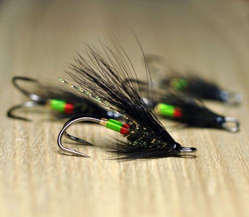 Salmon Fly Undertaker Fly Fishing Flies Double Hook size 8, 3-pack