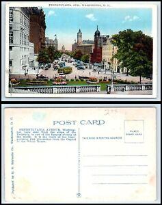 WASHINGTON-DC-Postcard-Pennsylvania-Avenue-Q42