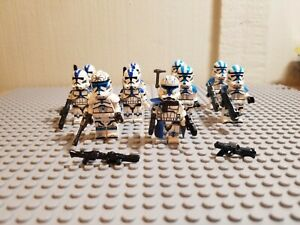 STAR-WARS-Lot-of-10-501st-Clone-Troopers-Phase-2-and-Order-66-W-Rex-Jesse