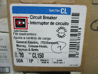 Cutler Hammer Cl150, 50 Amp 1 Pole 120 Volt Classified Circuit Breaker-