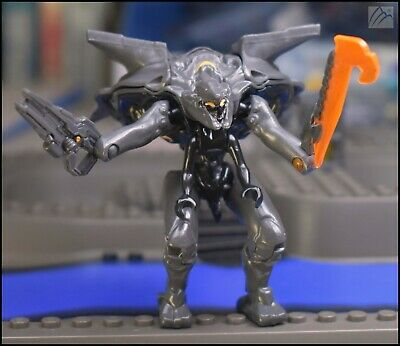 HALO MEGA BLOKS ORANGE PROMETHEAN KNIGHT LANCER FIGURE 97134 NIGHT OPS GAUSSHOG