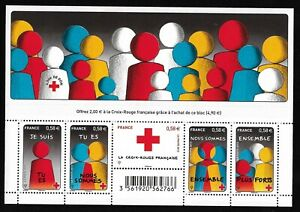 Bloc-Feuillet-2013-N-F4819-Timbres-France-Neufs-Croix-Rouge-Solidarite