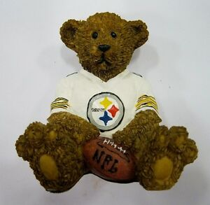 Pittsburgh-Steelers-NFL-Football-Ceramic-Mini-Teddy-Bear-Figurine-by-Elby-Gifts