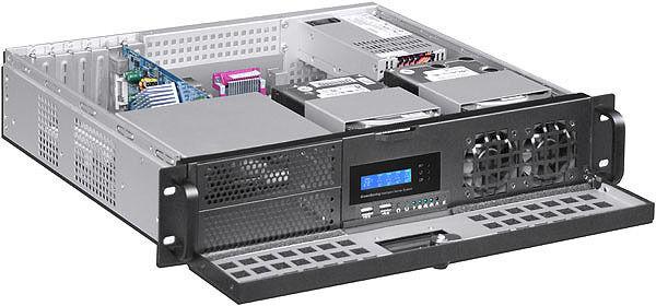 "2U D:14.96"" (3Horizontal Riser)(ATX)Door-LCD (5.25""+7HDD Bay) Rackmount Case NEW"