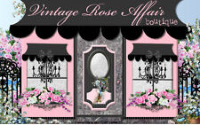 Victorian Chic Fashion Shabby Pink Boutique Roses Ebay Auction Listing Template