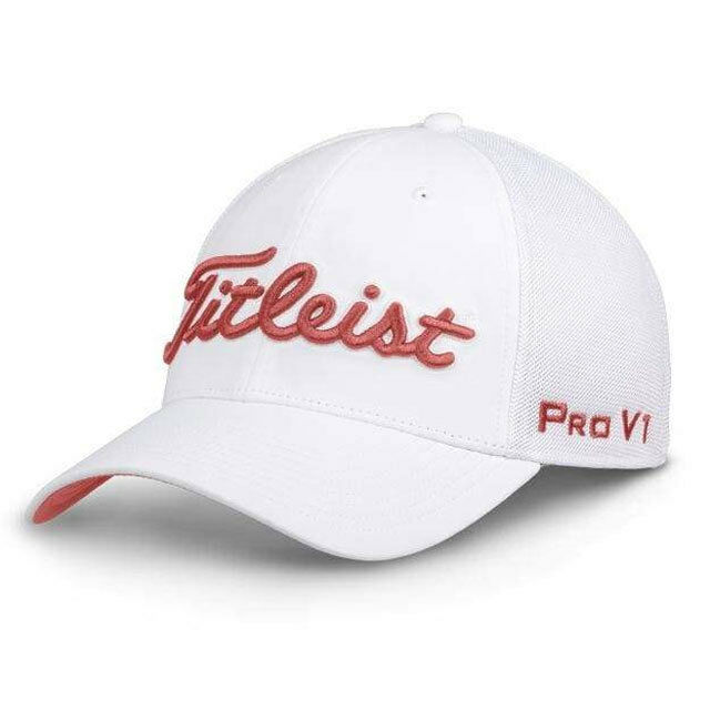 ed6d3c813f90a TITLEIST GOLF TOUR SPORTS MESH FITTED HAT CAP SIZE  S M WHITE   ISLAND