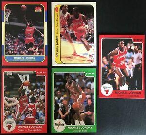 Details About 1986 Fleer Michael Jordan Rookie Rc Reprint 57 8 85 Star 7 101 5 Card Lot