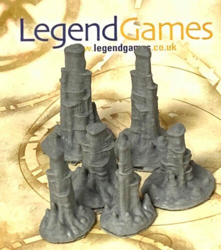 LegendGames Resin Terrain Cavern Stalactites set of 6 in 3 sizes