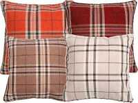 Luxury Tartan Check Stripe Woven Cushion Cover Scatter Decorative Pillow