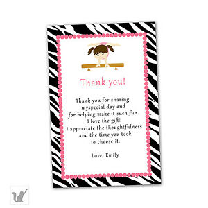 Image Is Loading 30 Thank You Cards Customized Pink Zebra Artistic