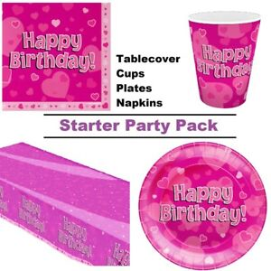 Happy-Birthday-Pink-Hearts-Stars-8-48-Guest-Starter-Party-Pack-Cup-Plate-Napkin