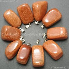 Natural Gemstones Free Formed Nugget Reiki Chakra Healing Pendant Charm Beads