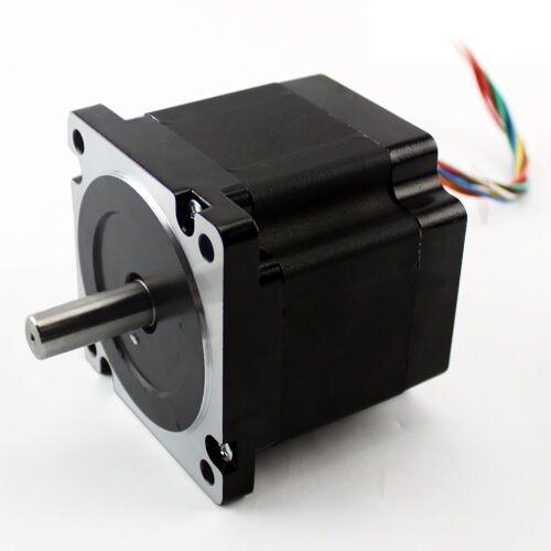 KL34H280-45-8B NEMA 34 640 oz-in Stepper Motor Dual shaft