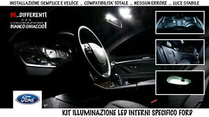 KIT-LUCI-LED-COMPLETO-INTERNI-BIANCO-GHIACCIO-FULL-PACK-034-FORD-FOCUS-3-034-2010-2015